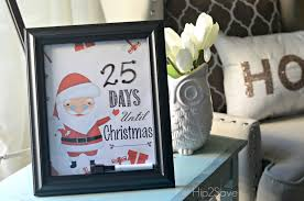 homemade christmas countdown free printables for christmas