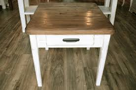 White Distressed Desk by Solid Wood Distressed Off White End Table Or Nightstand The Workshop