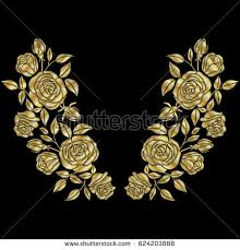 Golden Roses Glowing Golden Rose On Background Gold Stock Vector 350820326