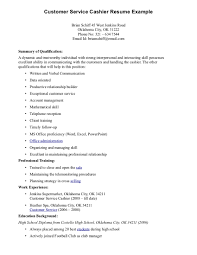 sample resume of a cashier examples of resumes for cashier jobs