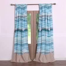 amazon com coastal seaside beach blue window panels curtains