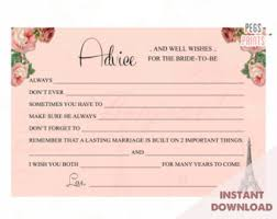 advice to the and groom cards advice cards etsy