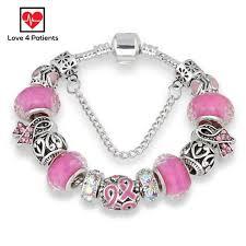 european bead bracelet charms images Pink ribbon breast cancer awareness european bead charm bracelet jpg