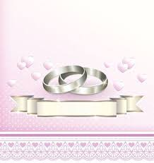 Wedding Wishing Cards Pink Wedding Greeting Cards With Lace Vector Vector Card Free