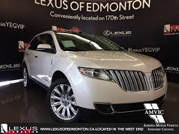 lexus used suv 2014 used 2014 white lincoln mkx awd walkaround review medicine hat