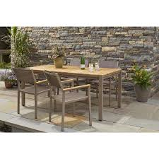 Stackable Patio Furniture Set - hampton bay barnsdale teak 5 piece patio dining set set t1820