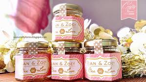 honey jar wedding favors wedding card malaysia crafty farms handmade sweet honey jar