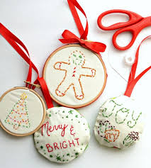 simple embroidered ornaments bless this mess