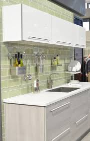 kitchen backsplash elegant green glossy ceramic tile backsplash