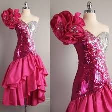 eighties prom dresses vtg 80s alyce pink silver sequin prom dress ruffles avant garde