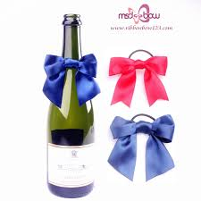 decorative bows wholesale wine bottle neck decorative bows for gift packing