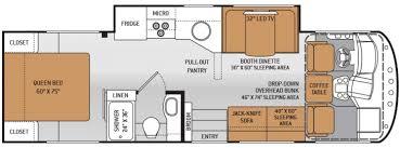 motorhome floor plans lovely class c motorhome floor plans 49 elegant 2016 redhawk