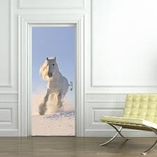 Door Decals For Home by Jermyn White Horse Pattern 3d Door Stickers For Kids Room Door