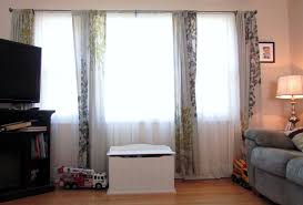 curtains for wide short windows modern home