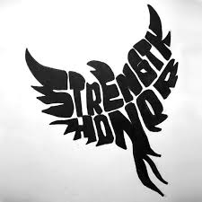 strength honor bird design creative tattoos designs