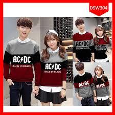 Baju Ac Dc fashion sweater acdc black in terbaru jual baju wanita