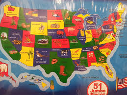 A Map Of The Usa by Ot What Are States Known For