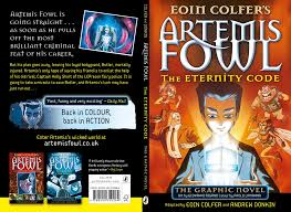 front and back covers for the puffin uk edition of the third artemis