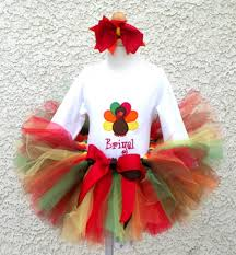 turkey thanksgiving tutu for baby toddler