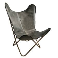 Vintage Butterfly Chair Leather Butterfly Chair Vintage Grey