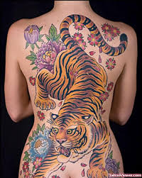 colored japanese tiger on back viewer com