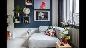 tour studio apartment eclectic style with touch of blue youtube