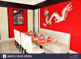 the chinese restaurant interior of luxury hotel ras al khaimah