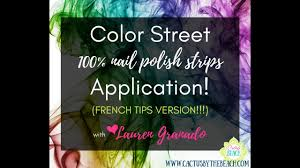 how to apply color street french tip nail polish strips youtube
