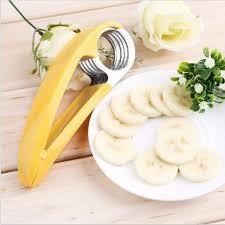 coupe banane cuisine en acier inoxydable tranche coupe banane fruits jambon saucisse