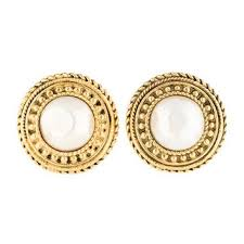 cheap clip on earrings shop chanel clip on earrings on wanelo