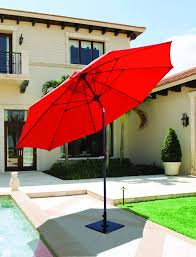 Red Rectangular Patio Umbrella Evening Party Patio Umbrellas Large Galtech 11 U0027 Auto Tilt