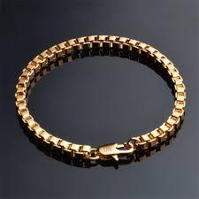 box chain bracelet images Men jewelry 4mm wide box chain bracelet gold color bracelets men jpg