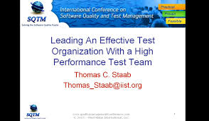 software testing training leading an effective test organization