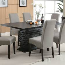 Contemporary Dining Set by Black Dining Room Sets Home Office Furniture Glass Top Table