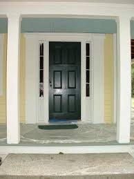 lovely house entry doors design from black painted wood including