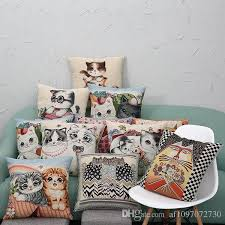 multicolor 11 designs cushion covers linen knitted jacquard cute