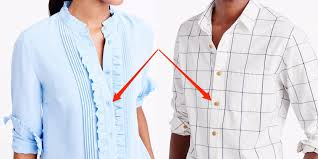 why men u0027s and women u0027s shirts button up on different sides