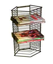 wire metal combo holds 15 15 cd and dvd case rack holder storage
