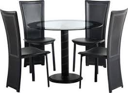 Glass Dining Table And Chairs EBay - Black glass dining room sets