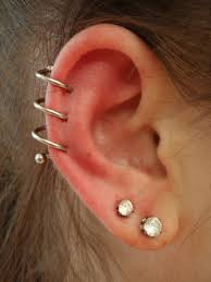 stud for ear diamond stud ear lobe and spiral piercing picture