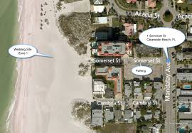 Map Of Clearwater Beach Florida by A Florida Beach Wedding