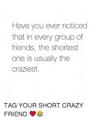 Crazy Friends Meme - have you ever noticed that in every group of friends the shortest