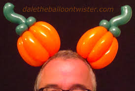 pumpkin mouse ears hairband dale the balloon twister