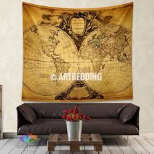 Old World Map Vintage World Map Wall Tapestry Old World Map Wall Hanging