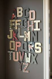 Nursery Wall Decor Letters Bowlin Studio Wall Alphabet Home Decor Http Centophobe