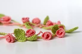Tiny Flower Crochet Pattern - rose garden crochet necklace u2013 yarn twist