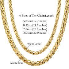 fashion necklace gold images Vintage 45 55 66 76cm gold color necklace fashion mens gold chain jpg