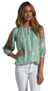 dvf blouse diane furstenberg pelican blue gold astor blouse size 6 s