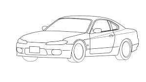 nissan skyline drawing nissan silvia s 15 outline by ragingpixels on deviantart