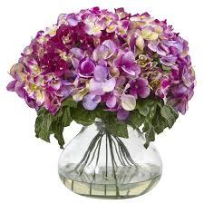 Hydrangea Centerpiece Lavender Magenta Silk Hydrangea Centerpiece Silk Flower Arrangements